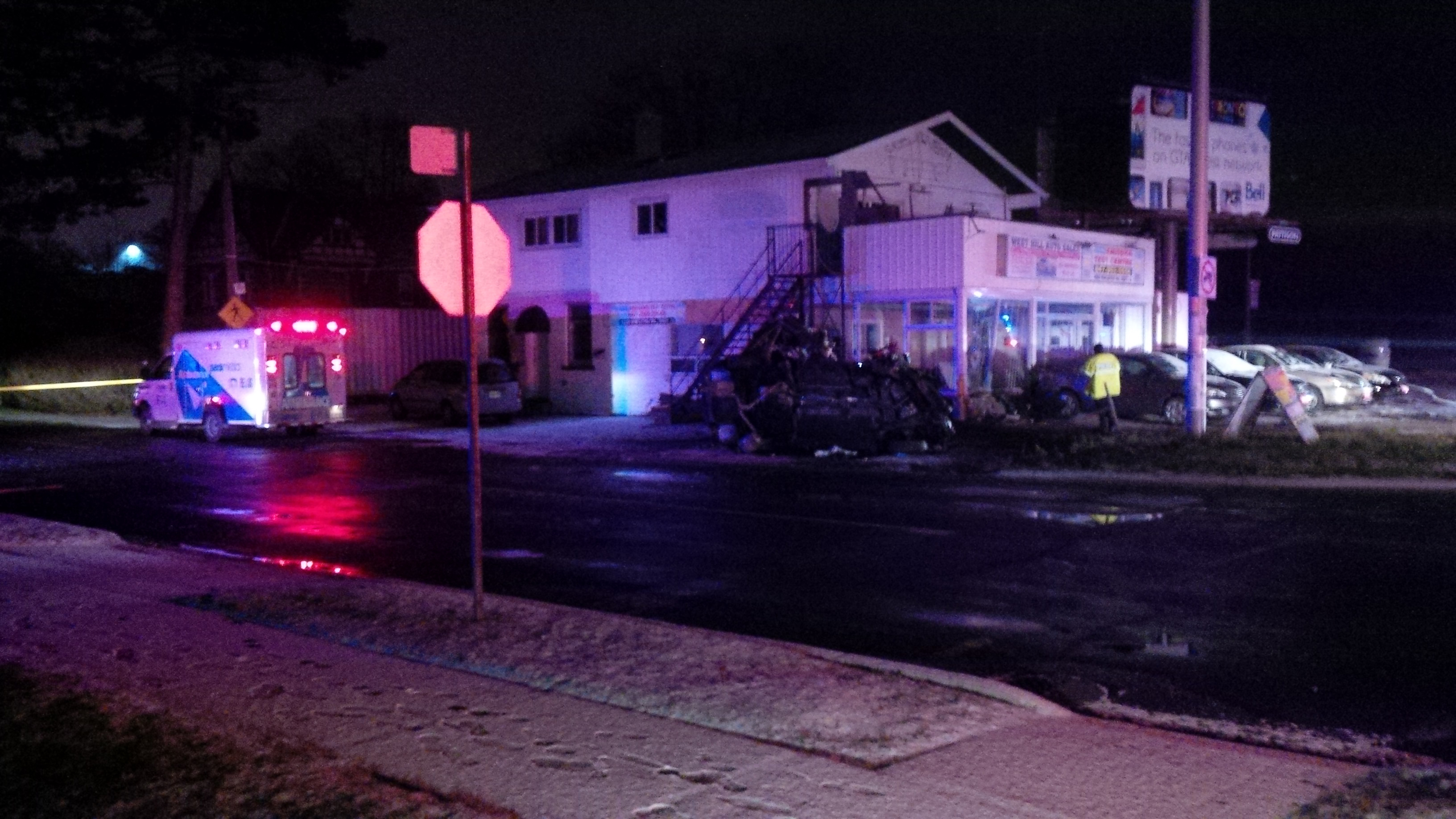 car crash causes power outage near kingston and morningside - 680 news