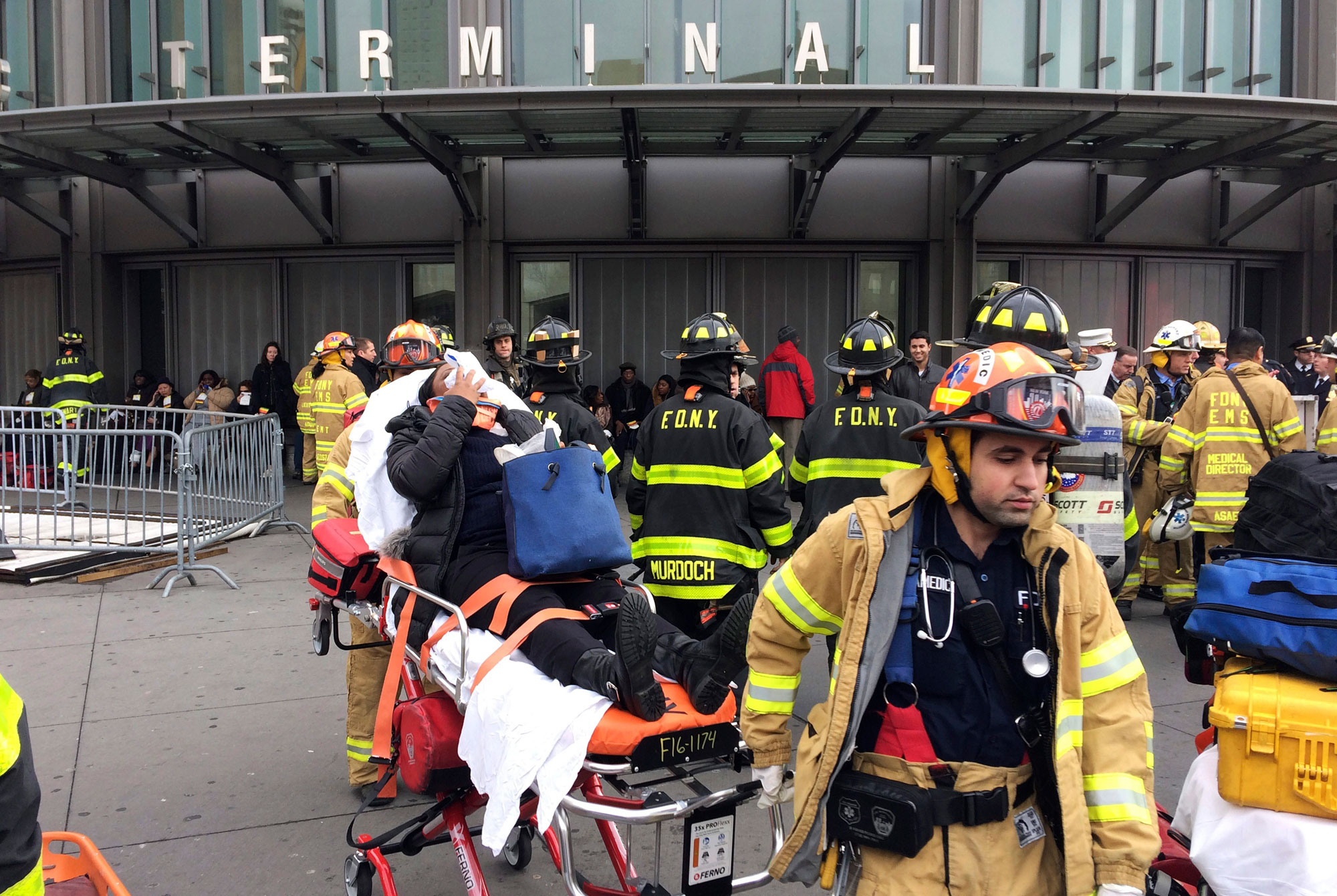 Footage Shows Scene in Brooklyn Station After Train Derailment