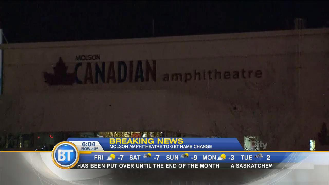 Video: Molson Amphitheatre to be renamed Budweiser Stage ...