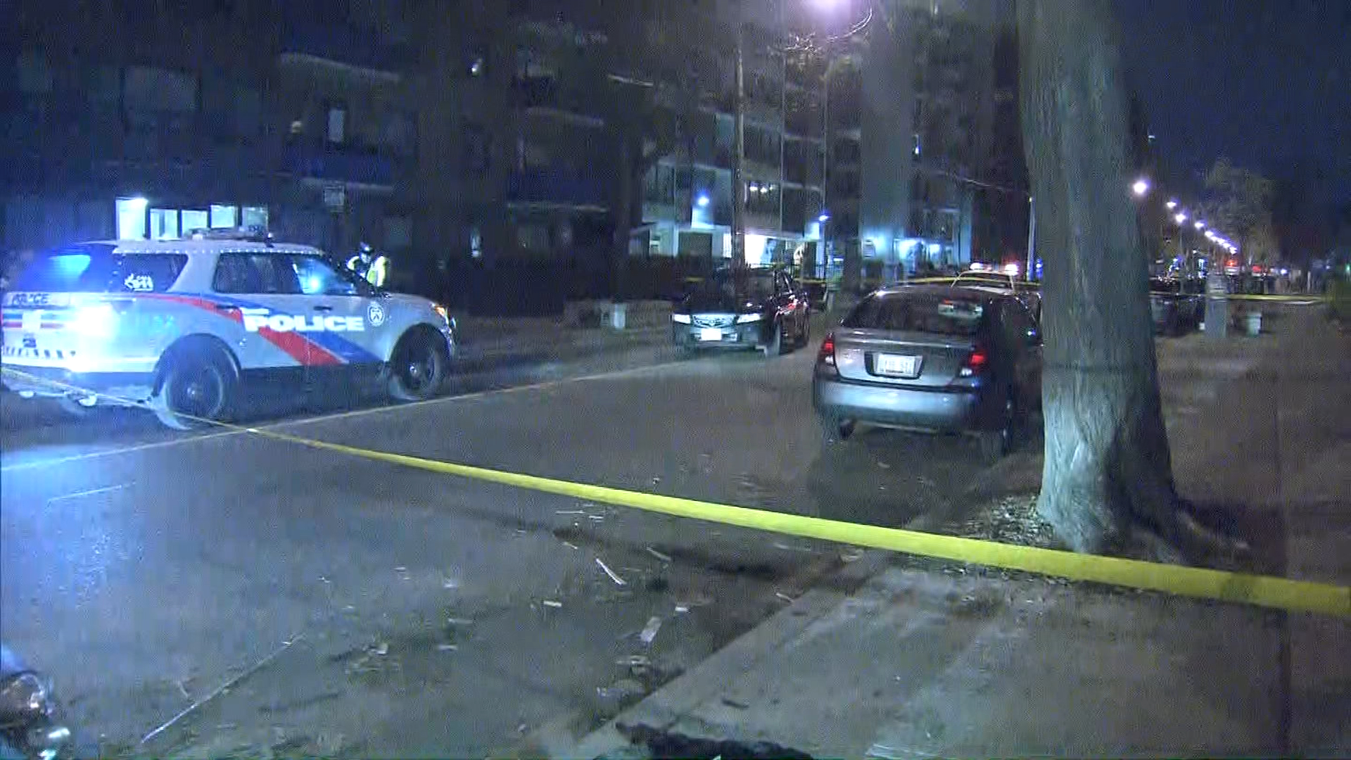 Victim hits pedestrian after attempted robbery near King and Jameson