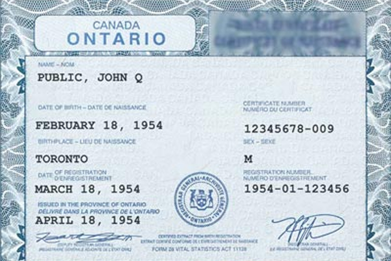 Ontario Developing A GenderNeutral Option For Birth Certificates