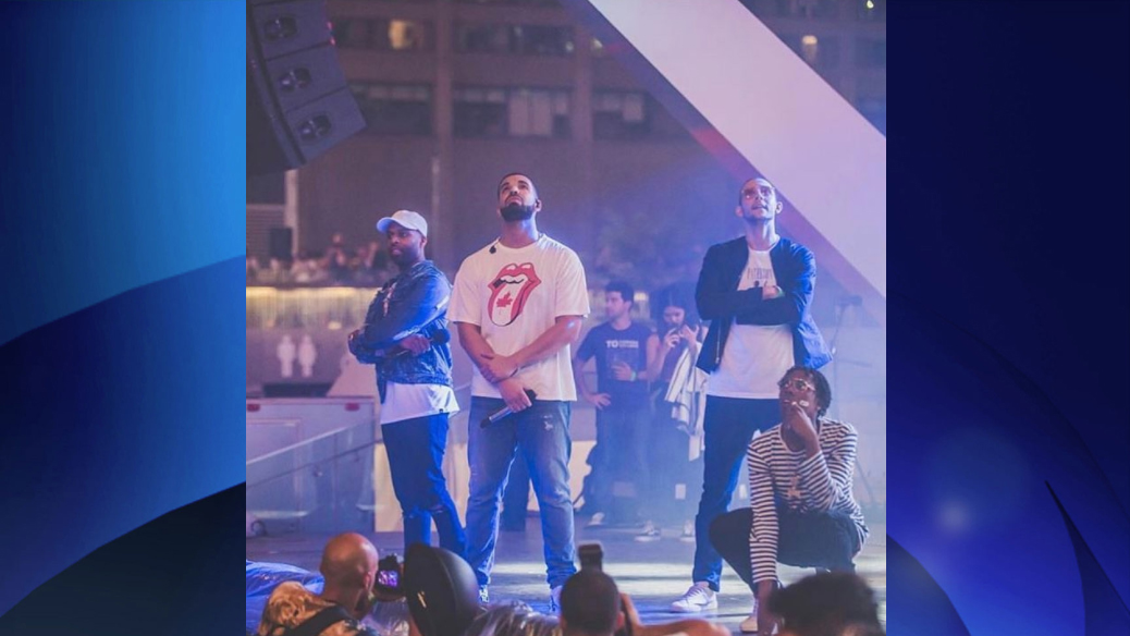 Drake makes surprise appearance at City Hall Canada 150 event