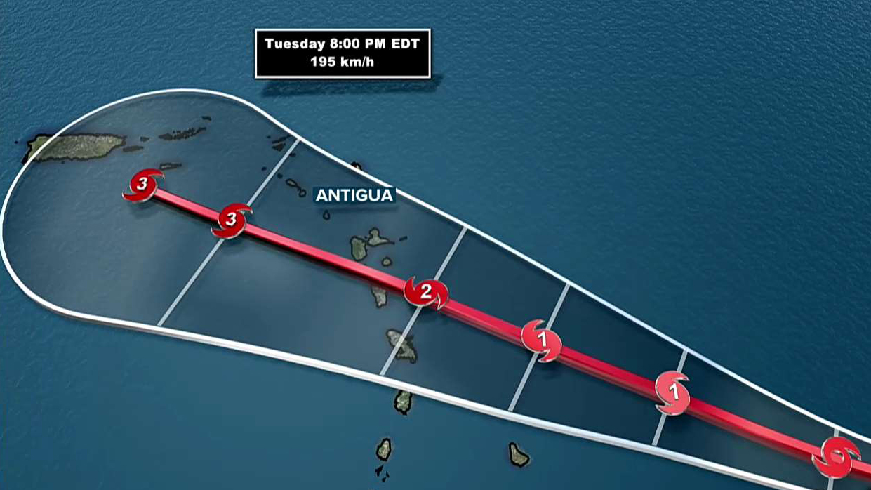 Hurricane Maria On Track For Virgin Islands, Puerto Rico
