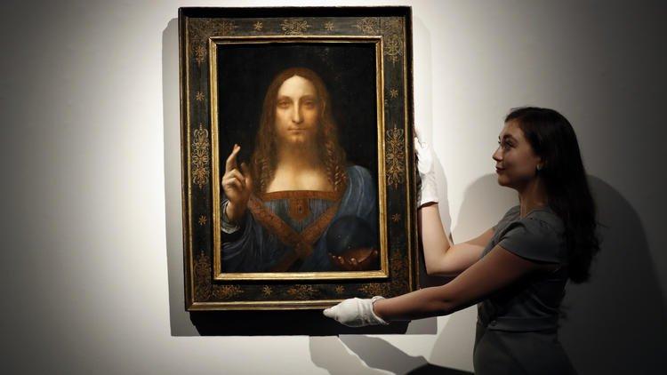 Leonardo Salvator Mundi 450m >> Leonardo da Vinci painting 'Salvator Mundi' sells for record $450M - 680 NEWS