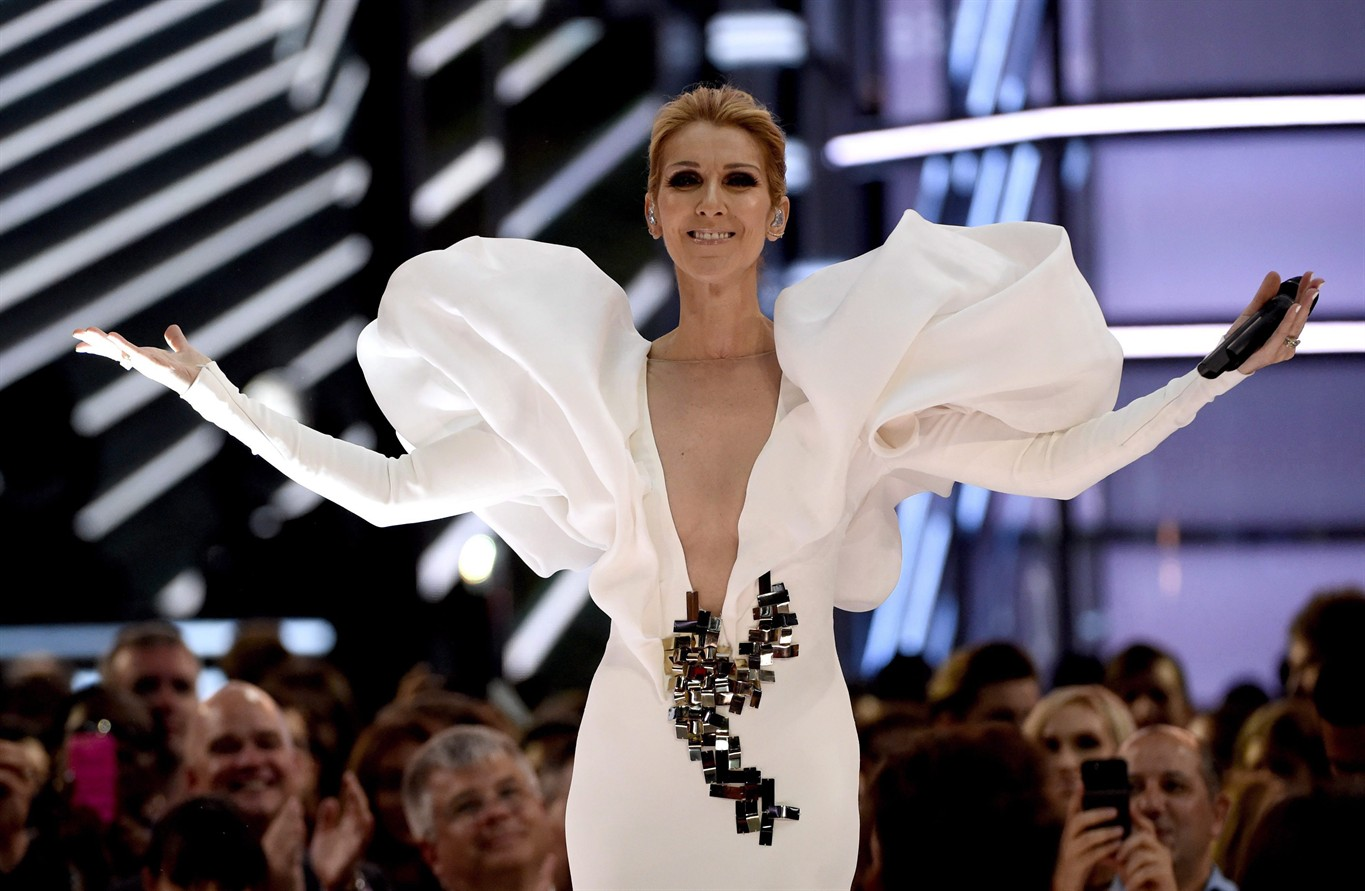 Céline Dion tells Las Vegas stage invader 'I love you'