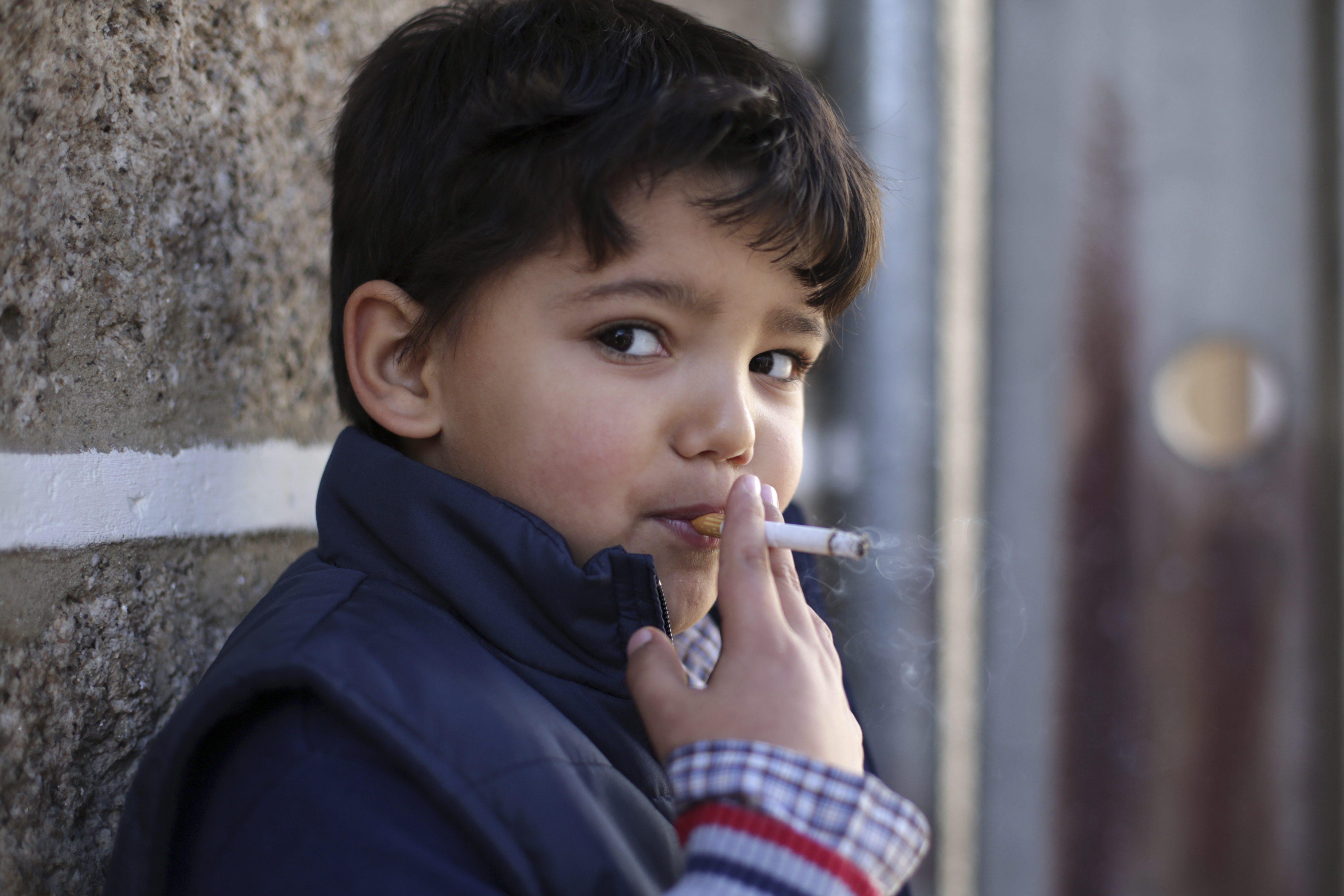 Kids smoking cigarettes already