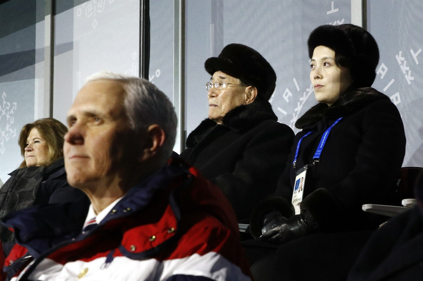 Mike Pence briefly meets North Korean official at Olympic reception
