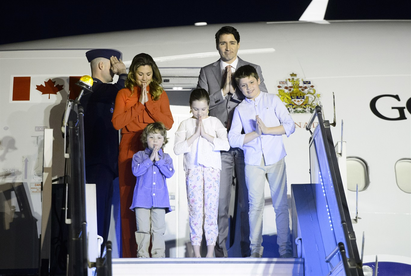 Pm Justin Trudeau Family Kick Off Indian State Visit