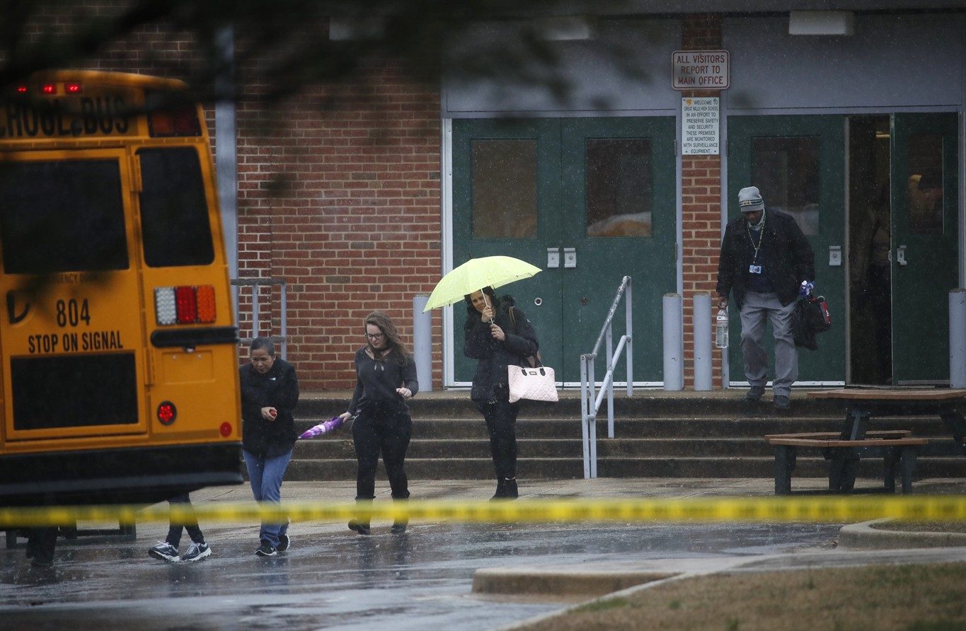 The school day had barely started at Great Mills High School in St Marys County Maryland when gunfire erupted inside the building
