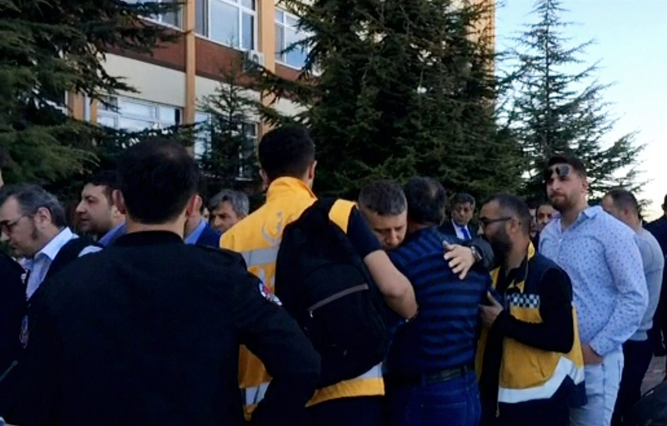 Four staffers dead in Turkish university shooting
