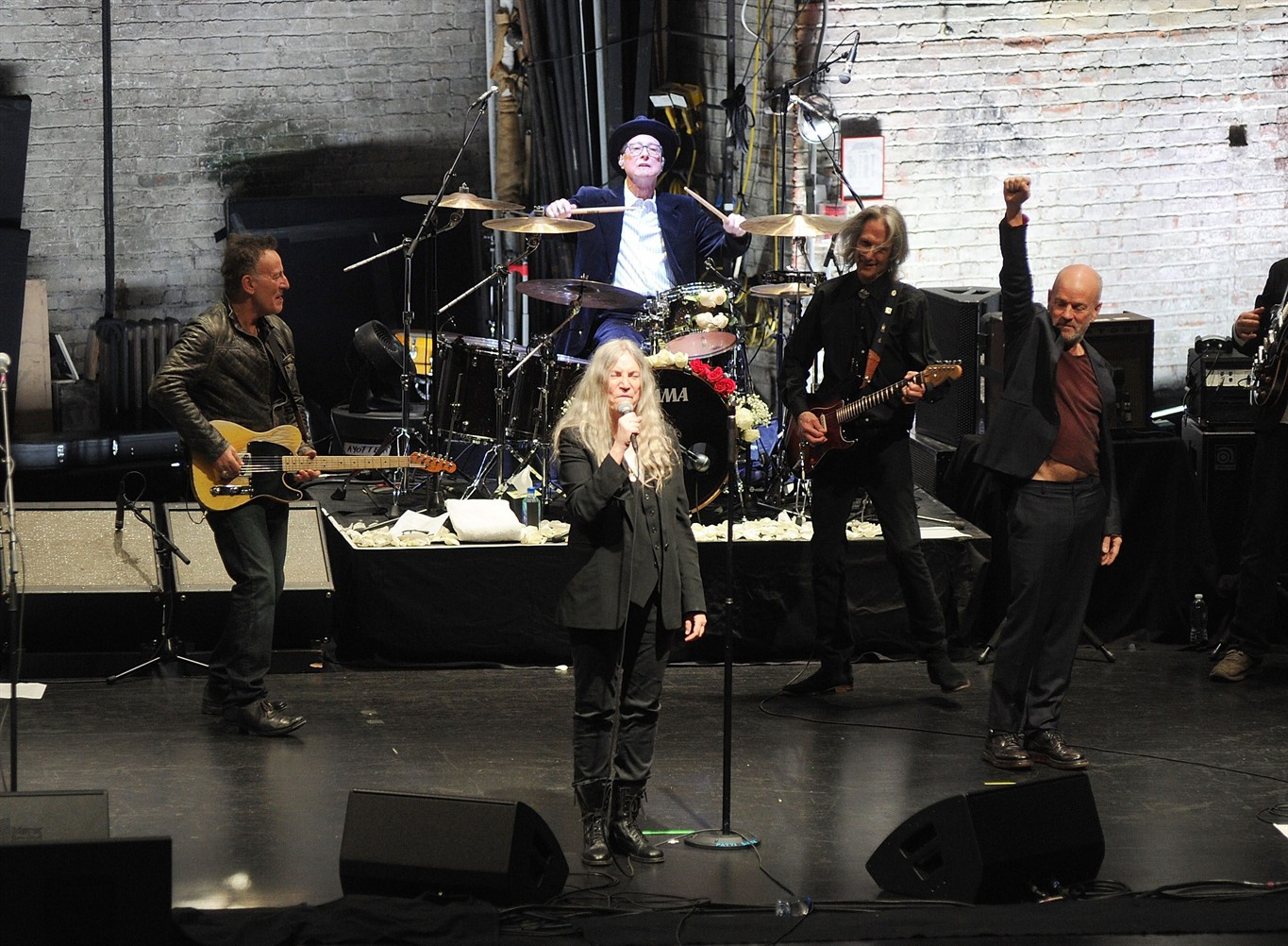 Watch Patti Smith, Bruce Springsteen and Michael Stipe all perform together