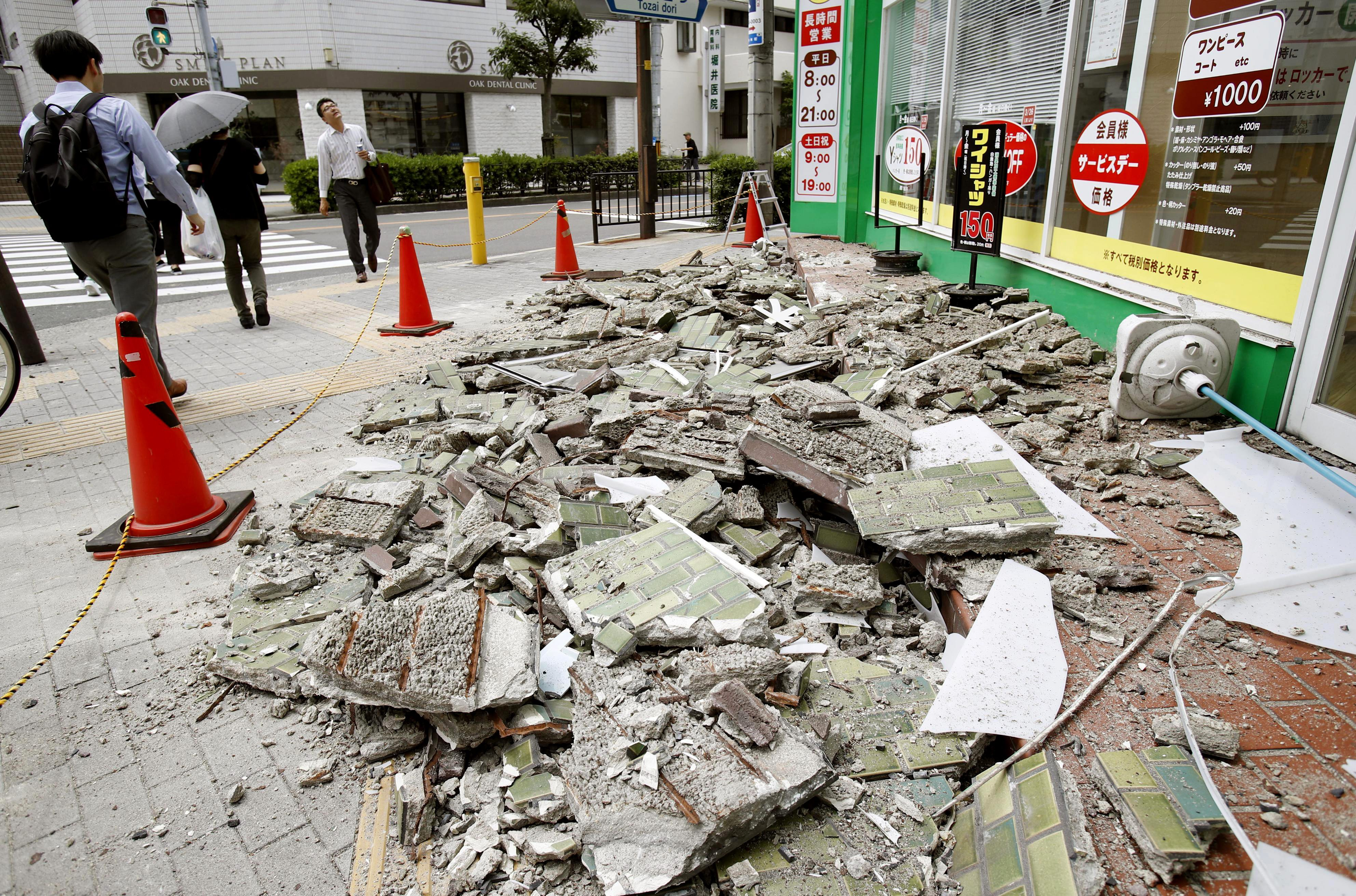 Rules of conduct during the earthquake