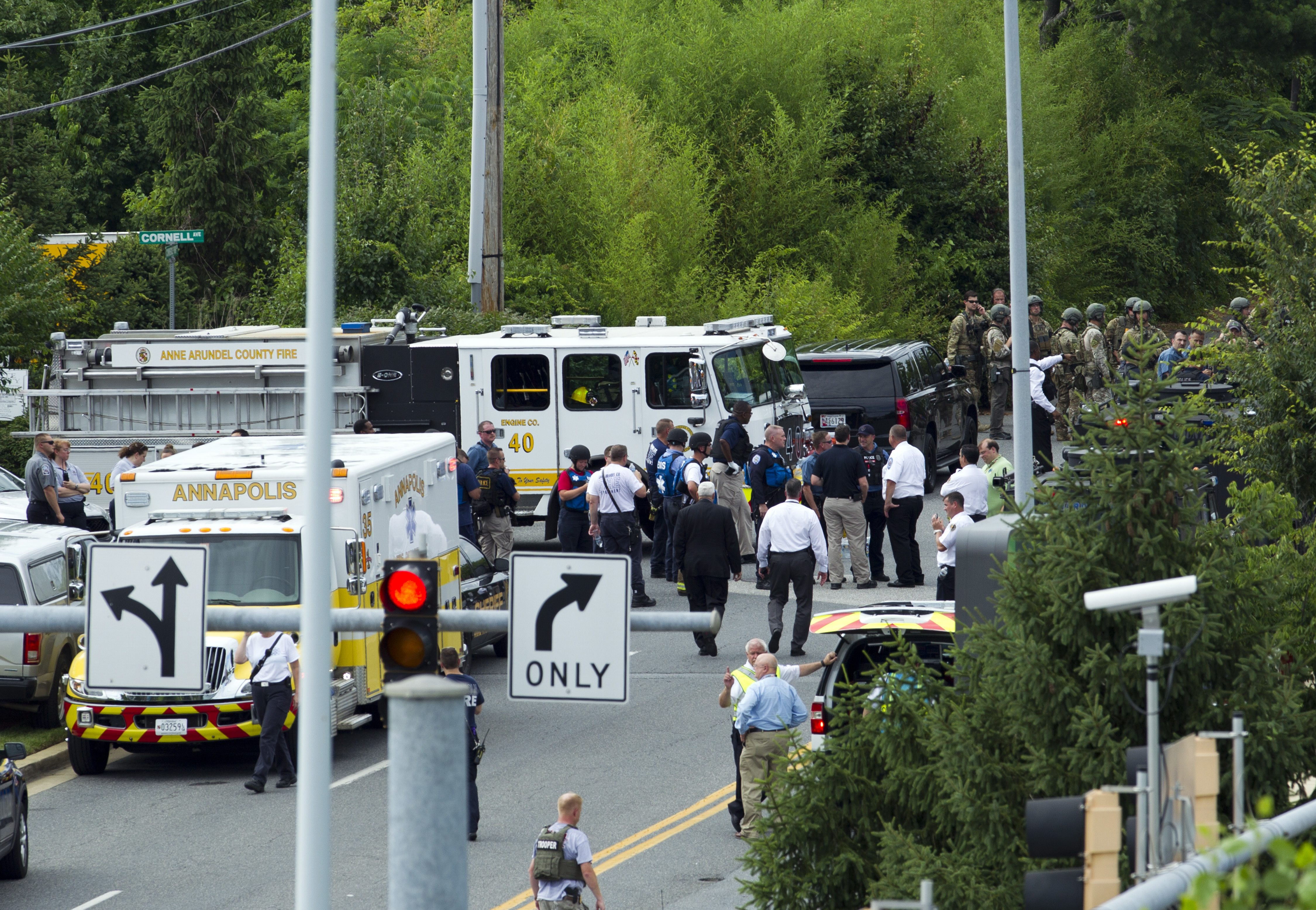 Capital Gazette suspect blocked entrance, then started 'hunting and killing,' official says