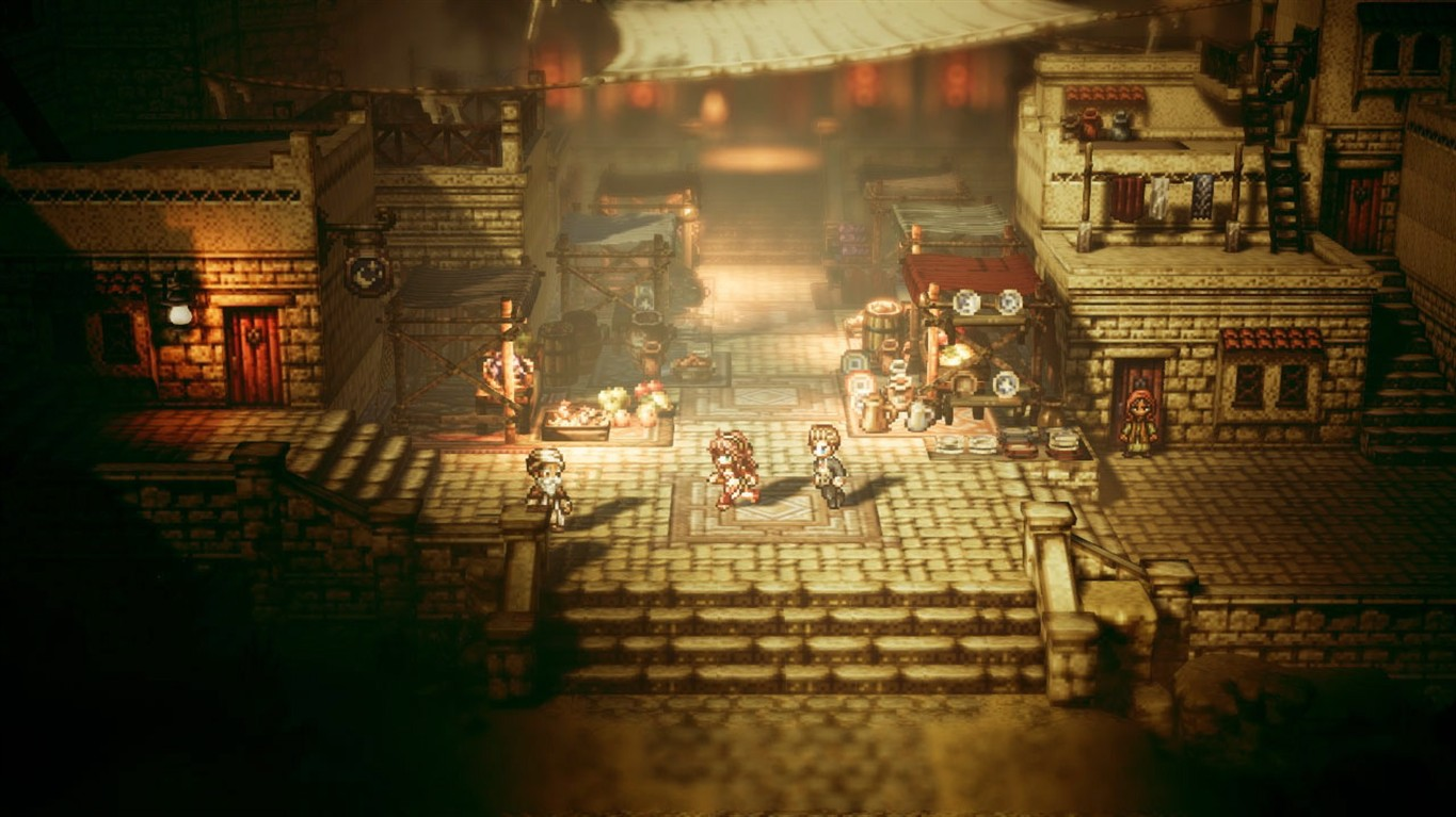 review octopath traveler pays tribute to rpg golden age without