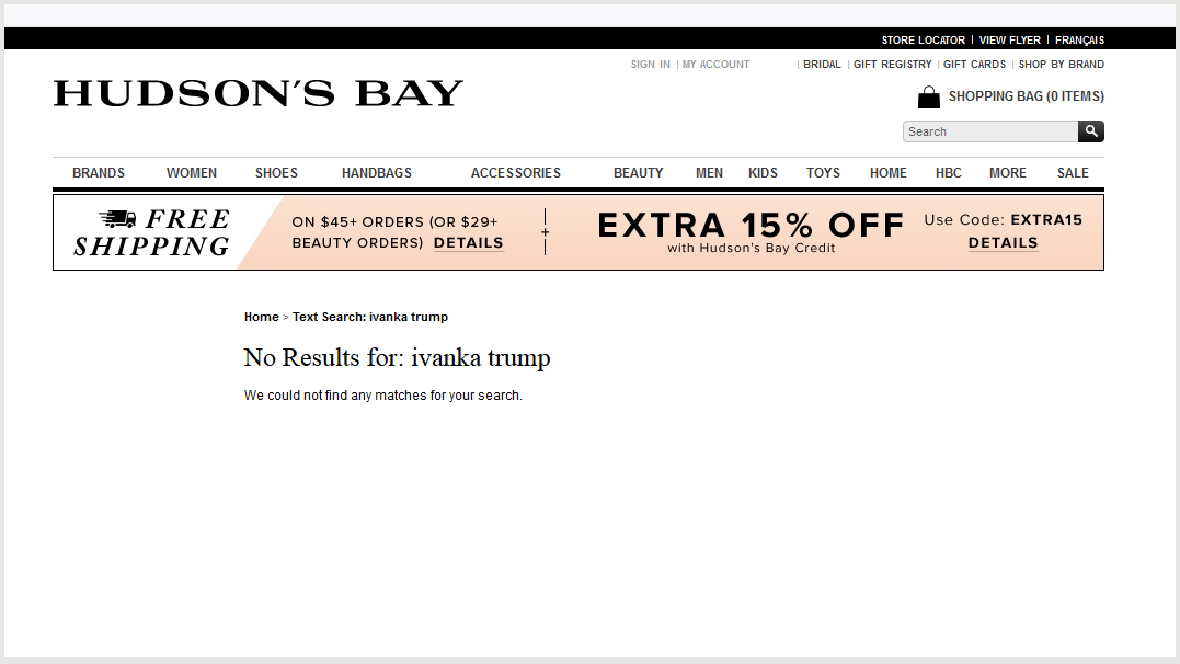 Hudson's Bay pulling Ivanka Trump clothing line due to lack of sales