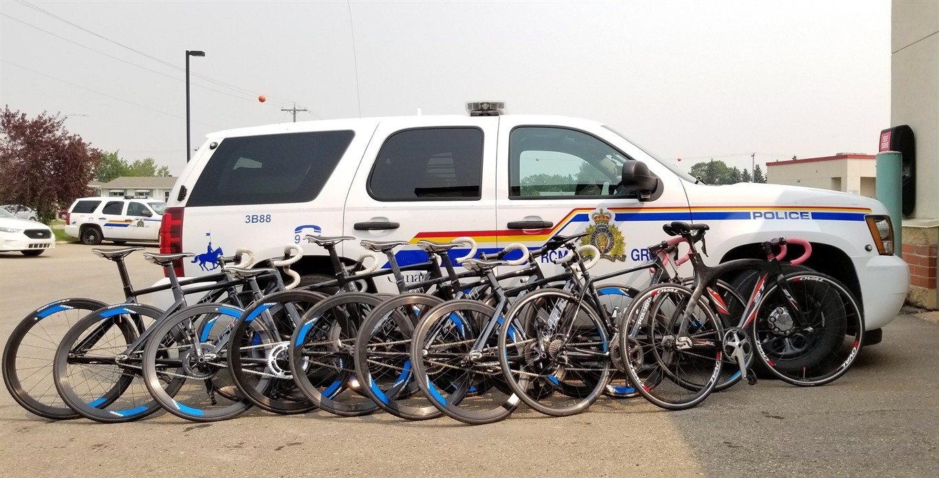 Malaysian bicycle racing team's stolen wheels recovered by Alberta RCMP