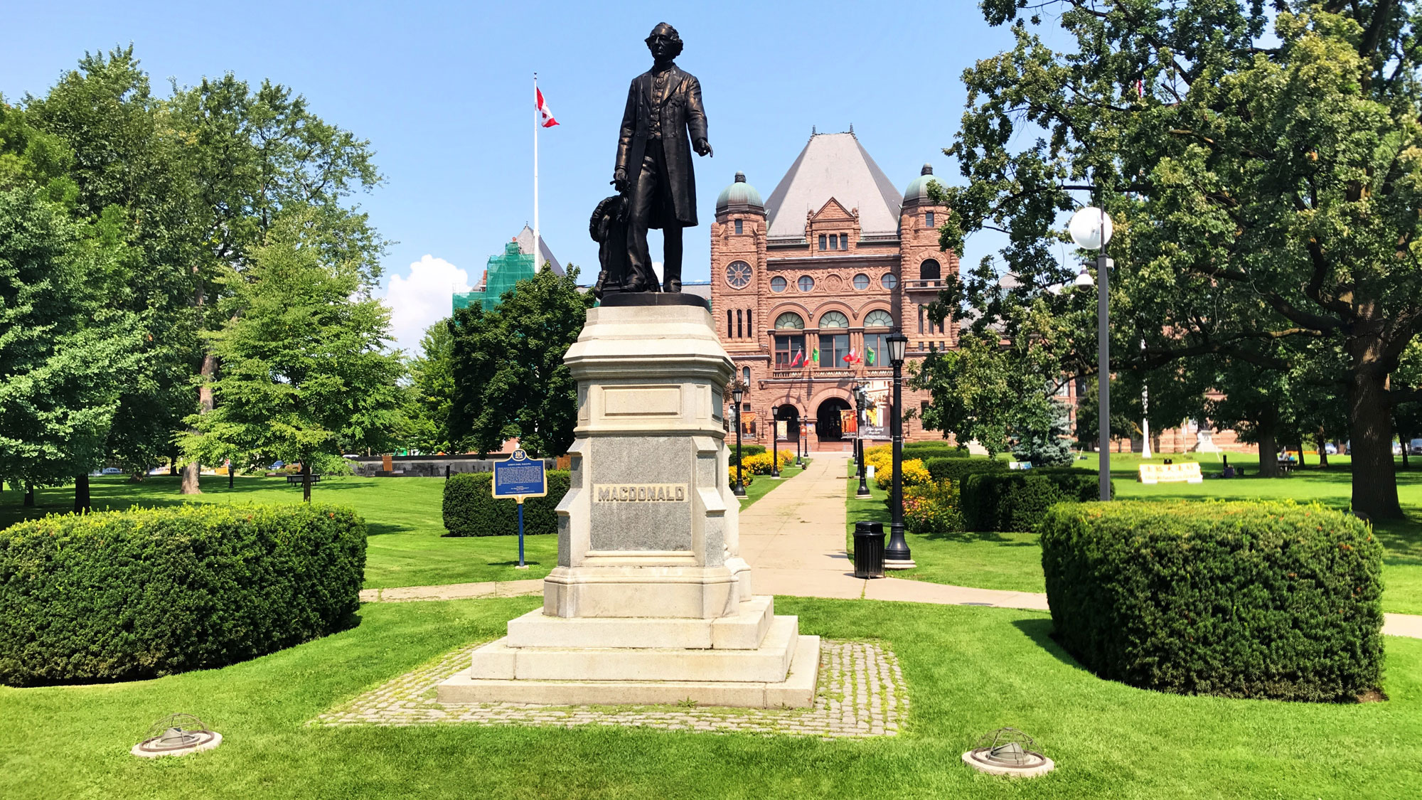 Plaque that replaced statue of John A. Macdonald vandalized