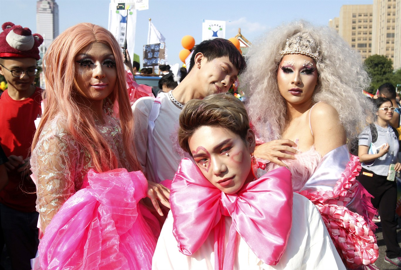 Gay Pride Halloween Costume.Tens Of Thousands Gather In Taiwan For Gay Pride Parade
