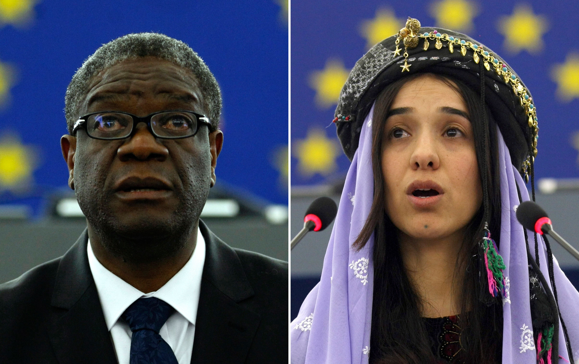 Nobel's Mukwege hears news in surgery as wild cheers erupt