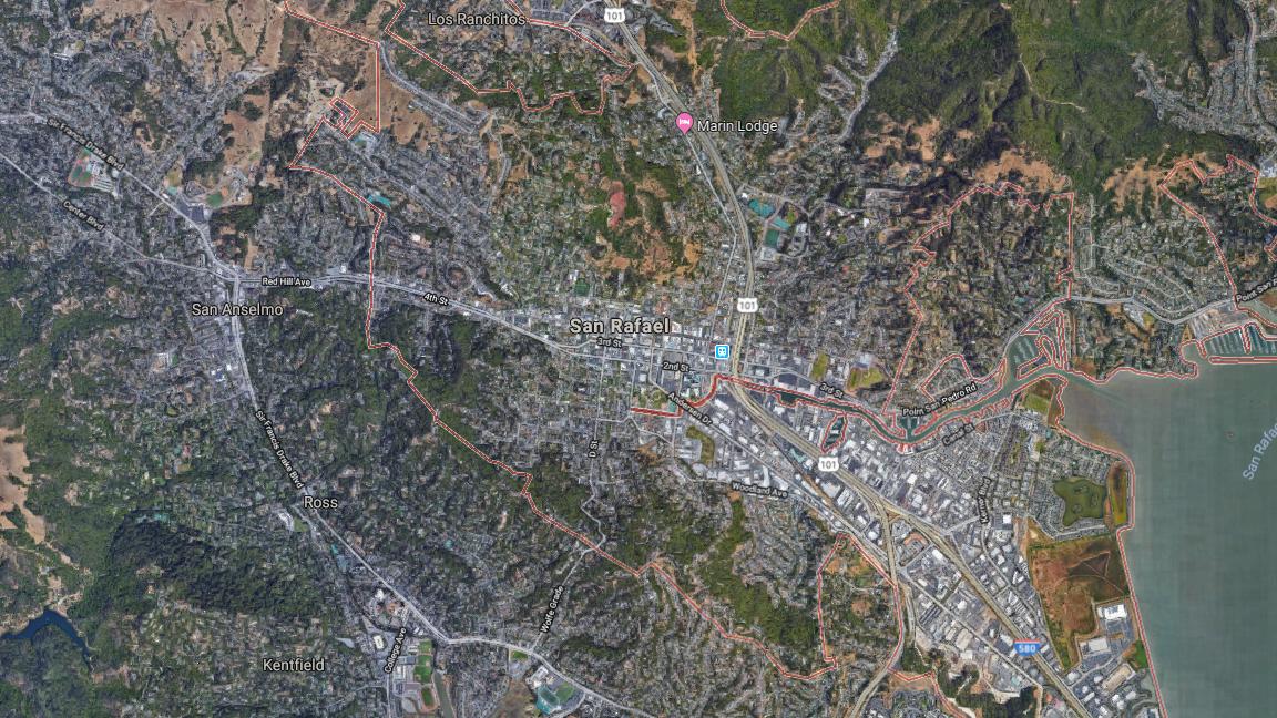 SAN RAFAEL GOOGLE MAP - 680 NEWS