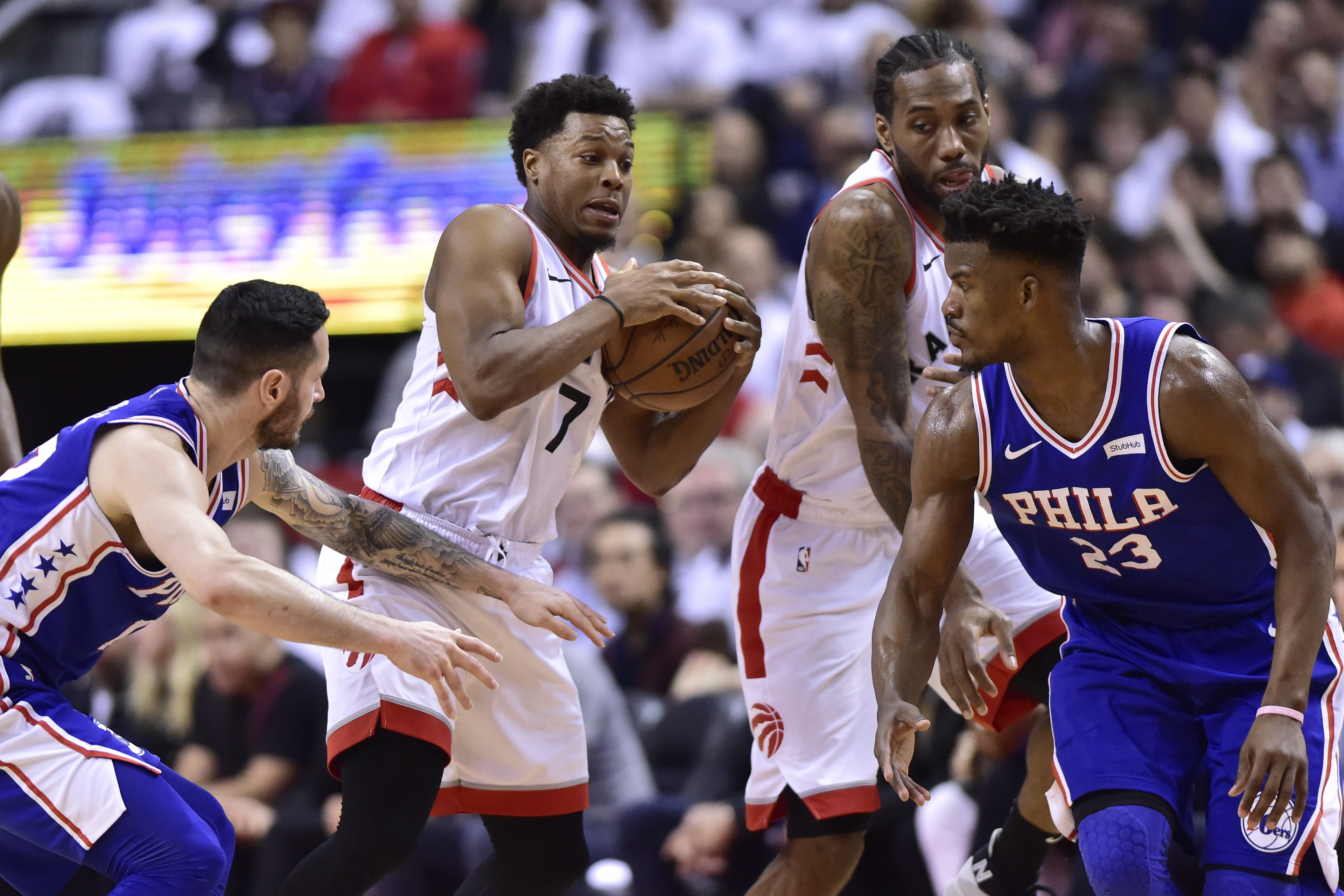 841e908c2 Team effort leads Raptors to 125-89 rout of Philly