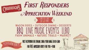 First Responders Appreciation Day @ Chudleigh's Farm
