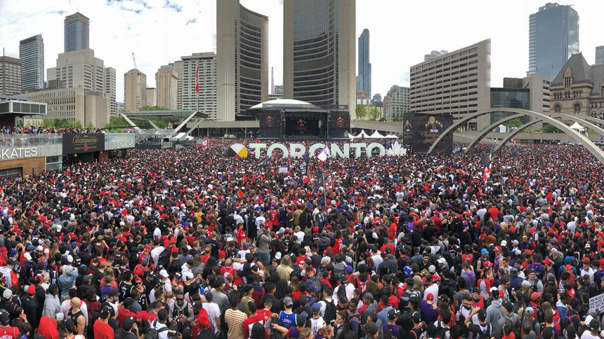 Shots fired at massive Raptors rally in Toronto, police say