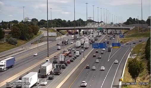Hwy. 401 WB collector lanes reopen at Keele Street