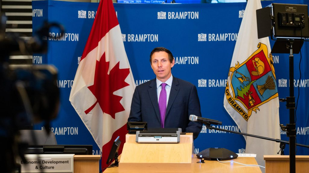 Patrick Brown makes face masks mandatory on public transit in Brampton