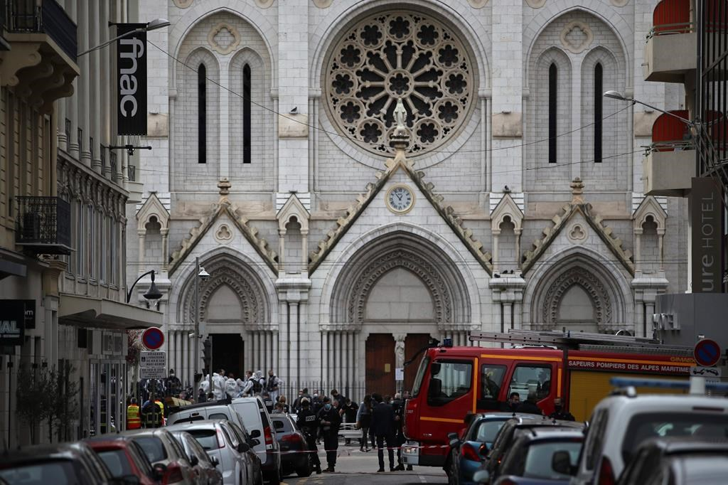 The Latest: Pope prays for Nice church attack, end to terror