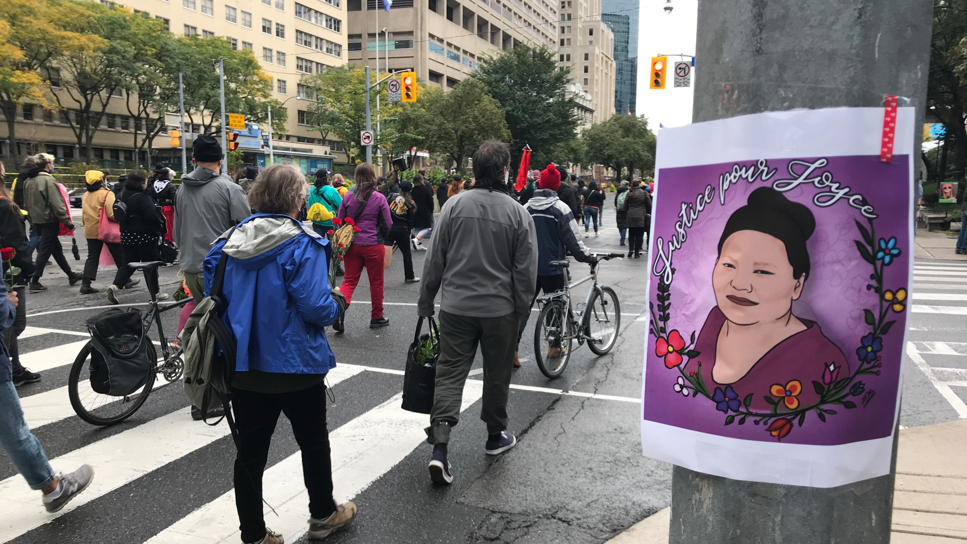 Toronto protesters demand justice for Quebec's Joyce Echaquan
