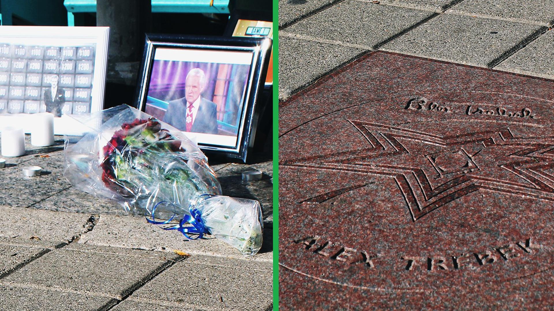 Toronto honours Canadian legend Alex Trebek with mini memorial